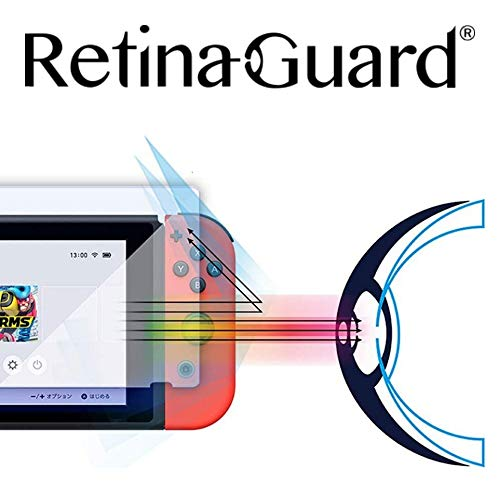 retinaguard anti-blue Licht gehärtetem Glas Displayschutzfolie für Nintendo Schalter-SGS & Intertek getestet-Blocks übermäßiges schädlichen blaues Licht, reduzieren Ermüdung der Augen und Belastung der Augen
