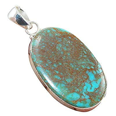Turquoise Native American 925 Sterling Silver Pendant