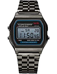 DAYLIN Ofertas Relojes Digitales Mujer Hombre Chica Marca Correa de Acero Inoxidable Relojes Deportivos LED Reloj de Pulsera de Cuarzo Analogico Wrist Watch Regalos (Oro Rosa/Oro/Plateado)
