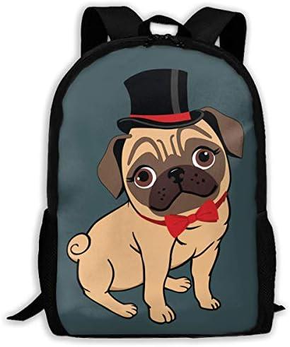 3D 3D 3D Printing Adult Shoulder Bag Handsome Pug School Backpack Bag ily Bag Hiking Bag for Men and donna | Molti stili  | Moderato Prezzo  | Materiali Accuratamente Selezionati  c053b1
