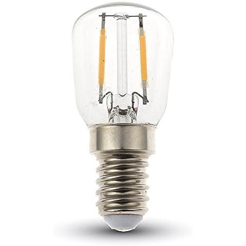 V-TAC LAMPADINA A Filamento LED, 2W 180Lumen Equivalente a 25W E14Base, 6000K, colore: bianco, Non dimmerabile, 300angolo