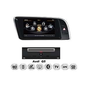 REALMEDIA Audi Q5 OEM Einbau Touchscreen Multimedia DVD Player MP3 MPE4 USB SD 3D Navigation GPS TV iPod USB MPEG2 Bluetooth Freisprecheinrichtung +++mit REALMEDIASHOP Garantie+++