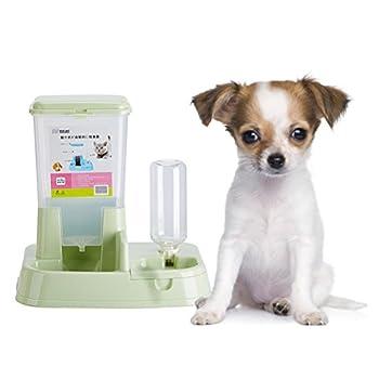 Yommie 2 en 1 Distributeur Automatique de Nourriture Croquette et d'eau pour Chat et Chien avec Gamelle et Bouteille - 3L