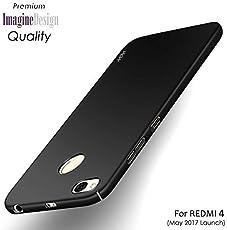 WOW Imagine 360 Degree Sleek Matte Finish Rubberised Hard Back Case Cover For Redmi 4 (Black)