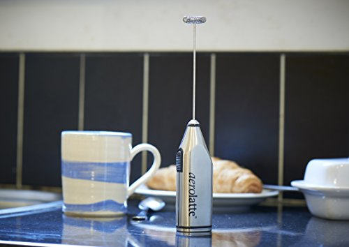 aerolatte Milk Frother with Stand, Stainless Steel