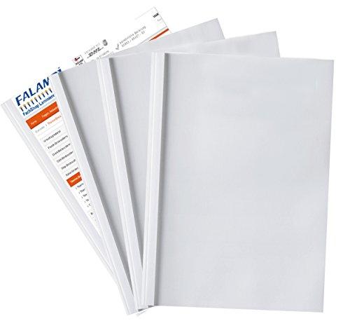 10 Thermobindemappen 6.0 mm, DIN A4, weiß/transparent, Auswahl 1,5-50,0 mm (weiß glänzend / 6.0 mm)