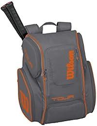 Wilson Tour V Backpack Large Gyor, Mochila Unisex Adulto, Gris (Grey/Orange