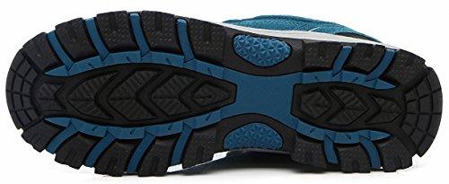 Ben Sports Damen Herren Wanderhalbschuhe Wanderstiefel Traillaufschuhe Walkingschuhe Laufschuhe F-Blau