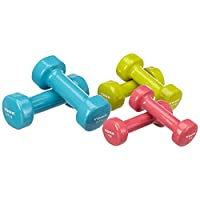 York Adult Exercise Dumbbell - Multi Color, None;York Dumbbells 10Kg Viny Coverd Set