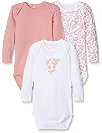 Name It Nmfbody 3p Ls Rose Tan Noos, Body Bébé Fille, (lot de 3)
