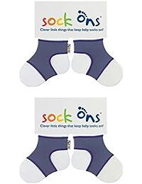 Sock Ons 6-12 Monate - TWIN PACK Geschenkverpackung verfügbar (Blueberry Twin Pack)