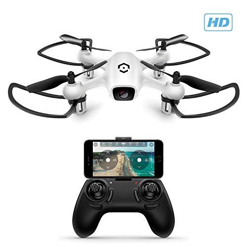 Amcrest A4-W Skyview WiFi-Drohne mit Kamera HD 720P FPV Quadcopter, Trainingsdrohne für Anfänger und Kinder, RC + 2,4 GHz WiFi-Hubschrauber mit Fernbedienung, Headless-Modus, Smartphone (Weiß)