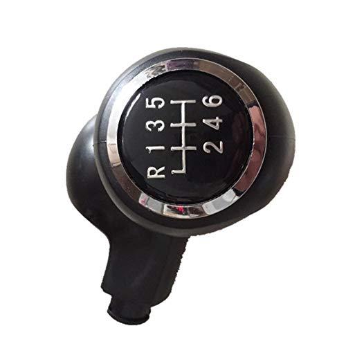 Voiture Pommeau de Levier de poignée, 5 Vitesses Commande Manuelle à 6 Vitesses Transmission de Voiture Bouton de démarrage Gear kit de clés pour MK5 Yate (Noir)
