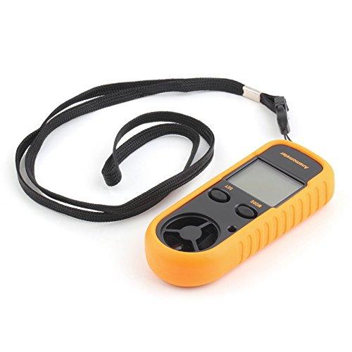 RGBS Anemometer, Windstärkenmessgerät, Windmesser, Digitales LCD-Display, misst Geschwindigkeit, Thermometer mit Hintergrundbeleuchtung fürs Windsurfen, Drachenfliegen, Segeln, Surfen, Angeln etc. -