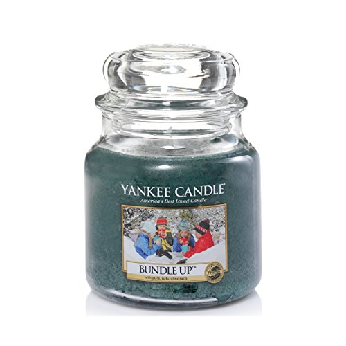 YANKEE CANDLE Bundle Up Duftkerze im Glas, Jade, 9.5 x 9.5 x 13.8 cm