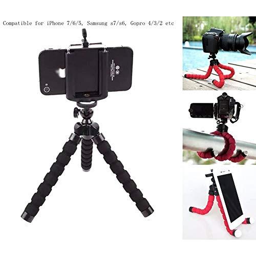 FUNXS Mini Flexible Schwamm Octopus Ständer Stativhalterung für iPhone Samsung Kamera Video Phone Zubehör für Handyhalterungen