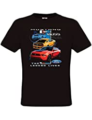 Ethno Designs Ford Mustang Boss - T-Shirt voitures américaines muscle car pour Hommes - regular fit