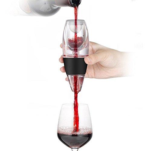 Aeratore Del Vino Airby® [3 step processo di aerazione] Diffusione Decanter Pourer [Box Esecutivo] Nessuna perdita in modo efficiente con BONUS sacchetto di corsa per Red Vino Bianco Whiskey