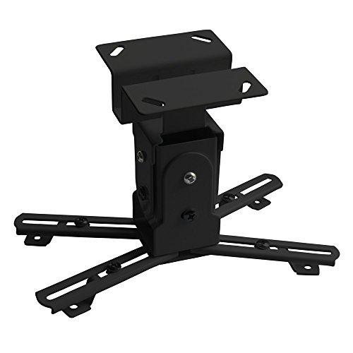 Nemaxx PH01 Schwarz Deckenhalterung Beamerhalterung Deckenhalter Halterung Halter für Beamer und Projektor Universal flexibel neigbar kippbar schwenkbar verlängerbar stabil