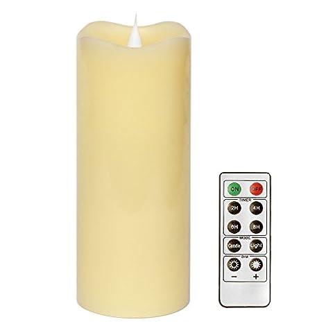 Bougie Luminaire en Cire, Bougie LED à Piles, Bougie parfumée,Bougie