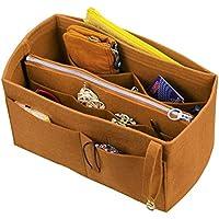 [Passt Neverfull GM / Speedy 40, leichter Kaffee] Felt Organizer (mit abnehmbaren mittleren Zipper Bag), Tasche in Tasche, Wolle Geldbörse einfügen, individuelle Tote organisieren, Kosmetik Make-up Windel Handtasche