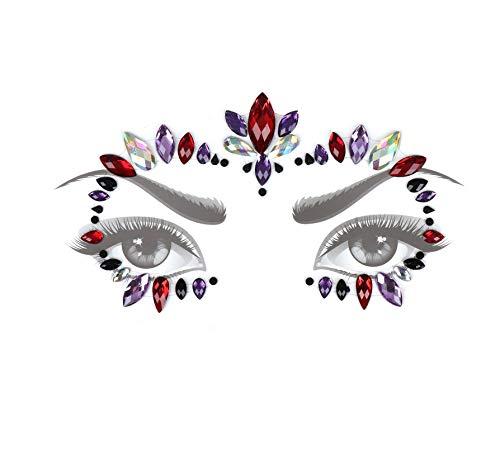 LFVGUIOP Glitter Juwelen Tattoo Aufkleber Gesicht Körper Edelsteine   Zigeuner Festival Schmuck Party Schönheit Temporäre Tätowierung Werkzeuge Makeup Decor