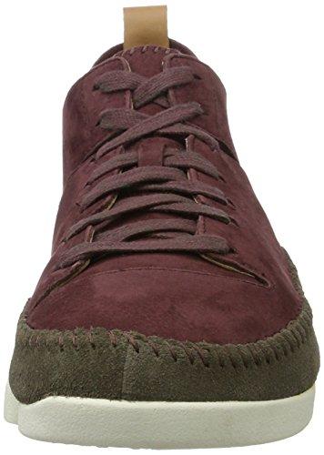 Clarks Originals Herren Trigenic Flex Sneaker Violett (Burgundy Nubuck)