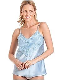 670bde5a75 armona Ladies Satin cami top Camisole Lace Vest Womens Sleepwear Nightwear