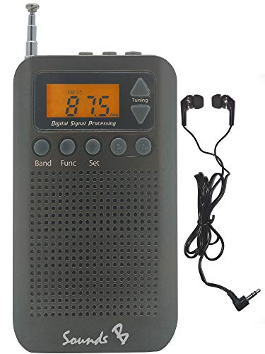 Sounds B - SB18 AM/FM Pocket Radio (Black) - Am / Fm-radio-headset