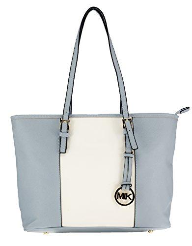 MIK Glamour Trendy Elegante Damen Schultertasche Handtasche PU-Ledertasche Grob