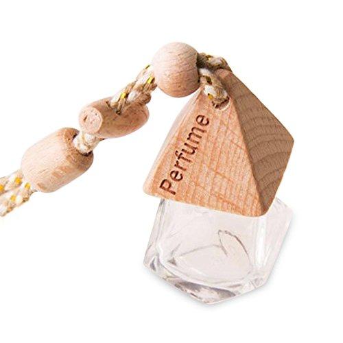 Preisvergleich Produktbild Auto Parfüm Flasche, 8ml Rhombus Glas leere Parfüm Flasche hängende Flasche Lufterfrischer für Auto Haus Büro Taschen Dekoration