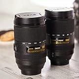 Krevia New Creative Camera Lens Mug Double Wall Automatic Self Stirring Mug Mixing Tea Coffee Drinking Cup - (1 Piece) Black Color
