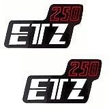 Aufkleber Klebefolie MZ - ETZ 250 - Seitendeckel Rechts und Links