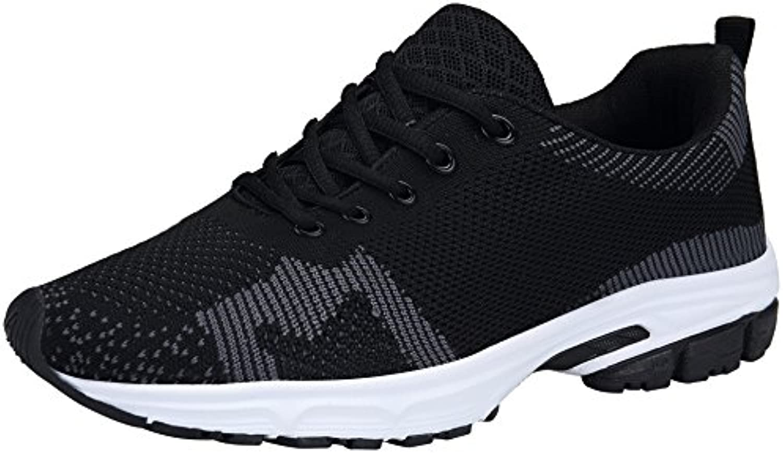DENGBOSN Damen Sportschuhe Laufschuhe Leichte Atmungsaktiv Fitness Schnürer Sneaker Mädchen 36-43