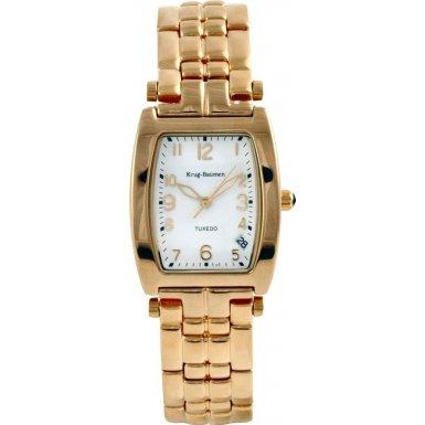 krug-baumen-1963km-g-mens-tuxedo-white-face-gold-bracelet-watch