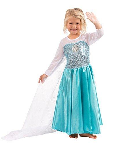 Frozen Regno Di Ghiaccio - Elsa la regina delle nevi principessa Abiti Elsa de Costume (9-10 anni)