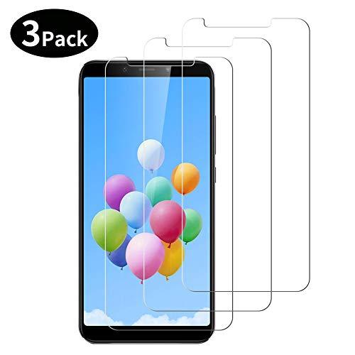 LONGYY Cristal Templado Xiaomi Mi A2, [3 Piezas] Protector de Pantalla [Alta Definicion, Sin Burbujas, 9H Dureza, Anti-Rasguños]