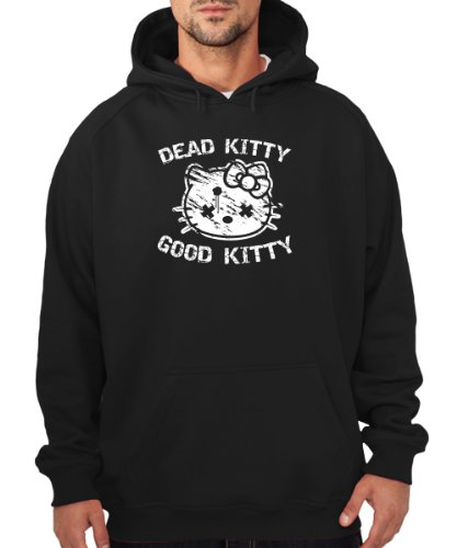 clothinx - Dead Kitty Good Kitty - Boys Kapuzenpullover Schwarz, Größe XXL