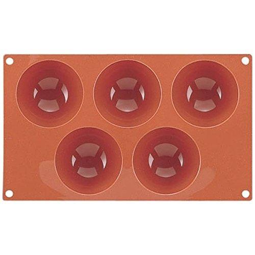 Martellato 5figura molde silicona Semiesfera bandeja