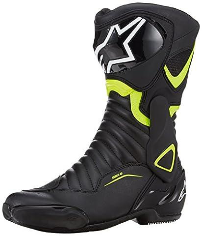 Alpinestars - Motorcycle boots - Alpinestars Smx-6 V2 Black Yellow Fluo - 48