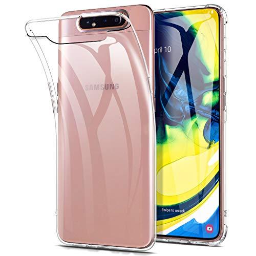 Yocktec-hoes voor Samsung Galaxy A80, ultradunne transparante siliconen TPU-gelhoes, [krasbestendig] [schokabsorptie] hoes voor Samsung Galaxy A80-smartphone