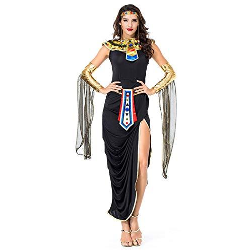 HOOLAZA Frauen Ägyptische Göttin Kostüm Sexy und Versuchung Schlange Königin Cosplay Kleid 5 Stücke