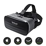 VR Brille für Handy, HAMSWAN 3D VR Brille Video Movie Game Brille Virtuelle Realität Headset Kompatibel mit iOS, Android und anderen Handys innerhalb von 4.0-6.0 Zoll Ultraleichtes Gewicht