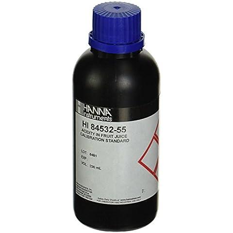 HI84532-55 - Soluzione standard per calibrazione della pompa di HI84532 Acidità nei succhi di frutta (scala bassa e alta) flacone da 100 ml