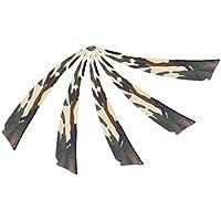 MagiDeal 5 Piezas Plumas para Flechas Forma de ala Derecha Escudo Naturales Tiro al Plato Deflexión de Cepillo - Camo