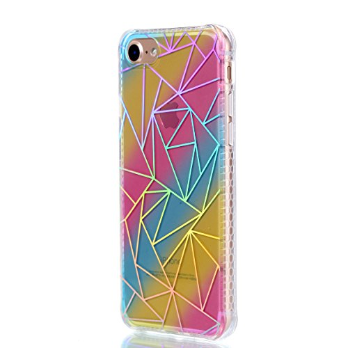 Coque iPhone 7, iPhone 7 Coque Silicone, SainCat Ultra Slim Transparent TPU Case pour iPhone 7, Anti-Scratch Gel Housse Transparent Silicone Case, Support Protection Anti Choc Shell, Couvrir Etui de P triangle