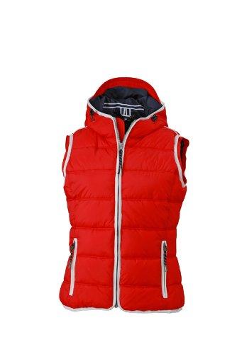 James & Nicholson Damen Jacke Weste Ladies' Maritime Vest rot (Red/White) Small