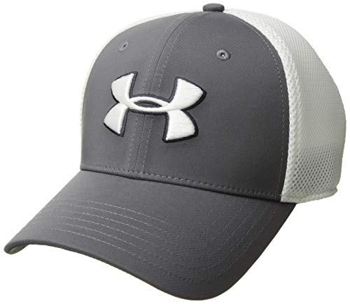 Under Armour Herren Microthread Golf Mesh Cap Hut, Graphite (040)/White, X-Large White-mesh-hut