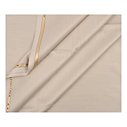 Vimal Mens Unstitched Trouser Fabric - Color : cream