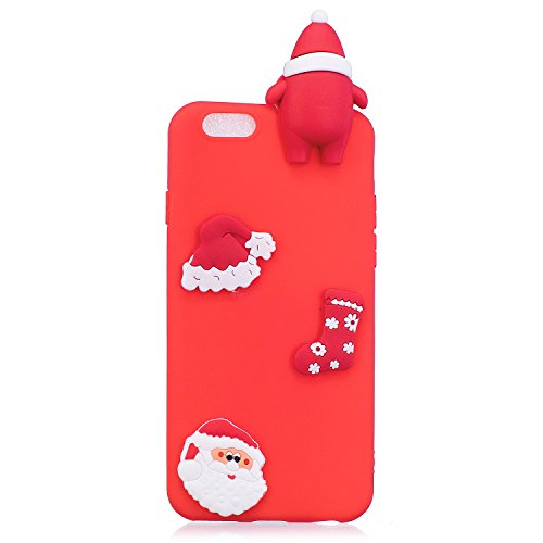Cover iPhone 6 Plus Spiritsun Case iPhone 6S Plus Custodia Silicone Moda Ultraslim Soft TPU Case 3D Diy Handy Kawaii Christmas Cover Souple Flessibile Phone Case Per iPhone 6S Plus / 6 Plus (5.5 Polli Cappello di Natale 1
